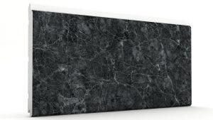 Mermer Görünümlü Strafor Dış Cephe Duvar Panelleri Mat Siyah Modeli
