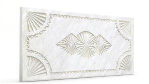 Osmanlı Dolunay Oymalı Strafor Duvar Paneli İnci Beyaz Modeli