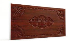 Osmanlı Dolunay Oymalı Strafor Duvar Paneli Ceviz Modeli