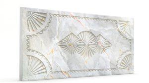 Osmanlı Dolunay Oymalı Strafor Duvar Paneli Gri Modeli