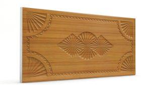 Osmanlı Dolunay Oymalı Strafor Duvar Paneli Hardal Modeli