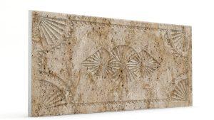 Osmanlı Dolunay Oymalı Strafor Duvar Paneli Kahve Modeli