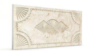 Osmanlı Dolunay Oymalı Strafor Duvar Paneli Kirli Beyaz