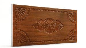 Osmanlı Dolunay Oymalı Strafor Duvar Paneli Koyu Kahve Modeli