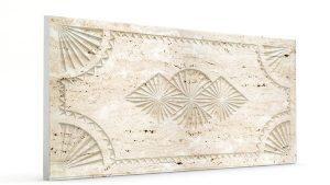 Osmanlı Dolunay Oymalı Strafor Duvar Paneli Krem Modeli