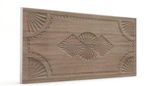Osmanlı Dolunay Oymalı Strafor Duvar Paneli Sütlü Kahve Modeli