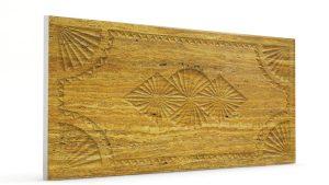 Osmanlı Dolunay Oymalı Strafor Duvar Paneli Sarı Modeli