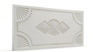 Osmanlı Dolunay Oymalı Strafor Duvar Paneli White Modeli