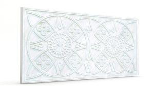 Osmanlı Güneş Desen Oymalı Strafor Duvar Paneli İnci Beyaz Modeli