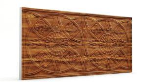 Osmanlı Güneş Desen Oymalı Strafor Duvar Paneli Ağaç Kabuğu Modeli