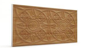 Osmanlı Güneş Desen Oymalı Strafor Duvar Paneli Ahşap Modeli
