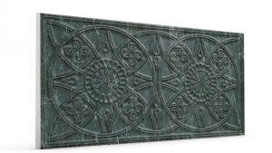 Osmanlı Güneş Desen Oymalı Strafor Duvar Paneli Antrasit Modeli