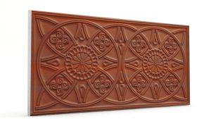 Osmanlı Güneş Desen Oymalı Strafor Duvar Paneli Bakır Modeli