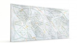 Osmanlı Güneş Desen Oymalı Strafor Duvar Paneli Bej Modeli