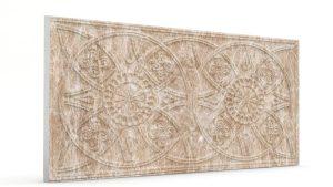 Osmanlı Güneş Desen Oymalı Strafor Duvar Paneli Kiraz Modeli