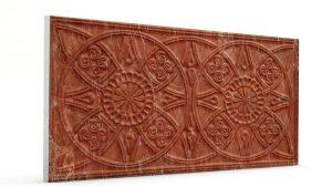 Osmanlı Güneş Desen Oymalı Strafor Duvar Paneli Kiremit Modeli