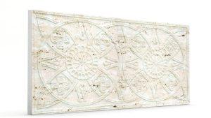 Osmanlı Güneş Desen Oymalı Strafor Duvar Paneli Kirli Beyaz Modeli