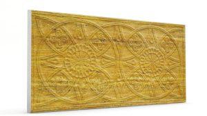 Osmanlı Güneş Desen Oymalı Strafor Duvar Paneli Koyu Hardal Modeli