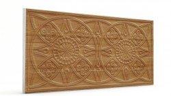 Osmanlı Güneş Desen Oymalı Strafor Duvar Paneli Koyu Kahve Modeli