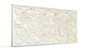 Osmanlı Güneş Desen Oymalı Strafor Duvar Paneli Krem Modeli