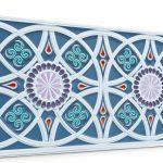 Osmanlı Güneş Desen Oymalı Strafor Duvar Paneli Mavi Modeli