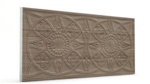 Osmanlı Güneş Desen Oymalı Strafor Duvar Paneli Sütlü Kahve Modeli