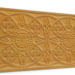 Osmanlı Güneş Desen Oymalı Strafor Duvar Paneli Sarı Modeli