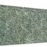 Osmanlı Güneş Desen Oymalı Strafor Duvar Paneli Su Yeşili Modeli