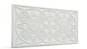 Osmanlı Güneş Desen Oymalı Strafor Duvar Paneli White Modeli