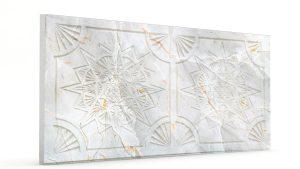 Osmanlı Yıldız Desen Oymalı Strafor Duvar Paneli Gri Modeli