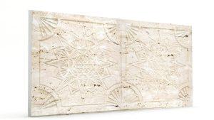 Osmanlı Yıldız Desen Oymalı Strafor Duvar Paneli Kirli Beyaz Modeli