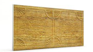 Osmanlı Yıldız Desen Oymalı Strafor Duvar Paneli Koyu Hardal Modeli
