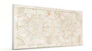Osmanlı Yıldız Desen Oymalı Strafor Duvar Paneli Krem Modeli