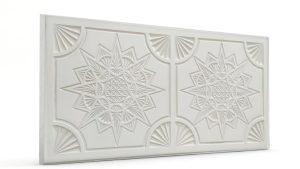 Osmanlı Yıldız Desen Oymalı Strafor Duvar Paneli Mat Modeli