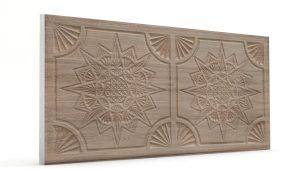 Osmanlı Yıldız Desen Oymalı Strafor Duvar Paneli Sütlü Kahve Modeli