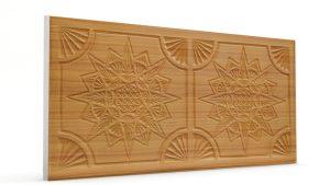 Osmanlı Yıldız Desen Oymalı Strafor Duvar Paneli Sarı Modeli