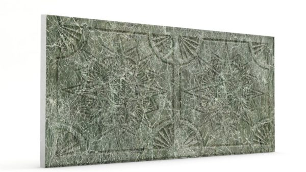 Osmanlı Yıldız Desen Oymalı Strafor Duvar Paneli Su Yeşili