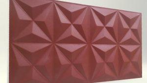 Piramit Desenli 3D Strafor Duvar Panelleri Bordo Modeli