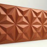 Piramit Desenli 3D Strafor Duvar Panelleri Koyu Bakır Modeli