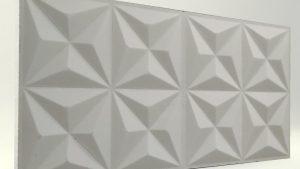 Piramit Desenli 3D Strafor Duvar Panelleri Mat Boyasız Modeli