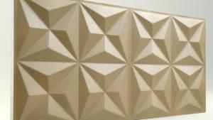 Piramit Desenli 3D Strafor Duvar Panelleri Sütlü Kahve Modeli