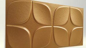 Papatya Bakır 3D Strafor Duvar Panelleri m2 Fiyatları