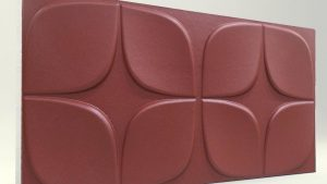 Papatya Bordo 3D Strafor Duvar Panelleri m2 Fiyatları