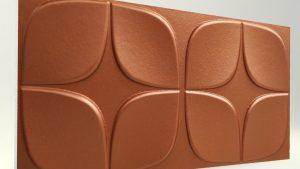 Papatya Koyu Bakır 3D Strafor Duvar Panelleri m2 Fiyatları