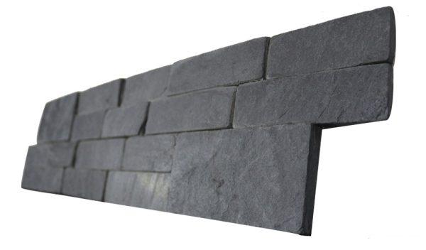 Z Shape Black Slate Stack Stone
